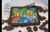 Eetbare chocolade superheld schilderij