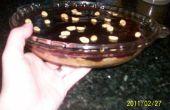 Crustless zelfgemaakte pindakaas en gelei taart