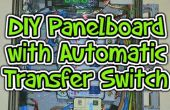 DIY Circuit breaker panelboard met automatische Transfer Switch (ATS), meting en computer controle.