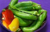Roosteren en het behoud van de paprika's