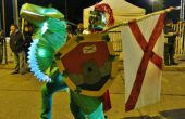 Gloeiende dragon rider kostuum / Disfraz de jinete de dragón brillante
