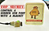 Topgeheim: controle van een verborgen USB-poort met een magneet!
