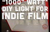 """""""1000"""" Watt DIY licht voor Indie Film en fotografie"""