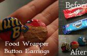 Snoep / voedsel Wrapper knop oorbellen