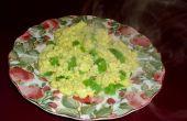 Roerei met kaas en groene paprika's