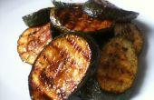 Gegrilde/Bbq courgettes (Zucchini)