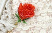 Hoe maak je een 3D rode kralen Rose voor vriendin als Valentijnsdag geschenk