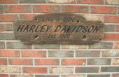 Rustieke Harley Davidson teken