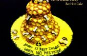 De worteltaart walnoten Honey Bee Hive