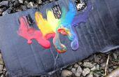 Regenboog Crayon smelten