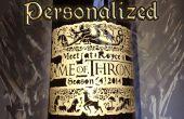 Spel van tronen gepersonaliseerde fles Label