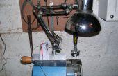 Klem op 12 v Anglepoise Lamp voor hout draaibank gemaakt voor gerecycleerd materiaal.