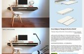 Minimale Float muur Desk - snelle make-over voor massaproductie of DIY