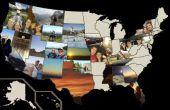 Verenigde Staten foto kaart