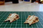 Mini Rebel Snowspeeder Popsicle Stick Model