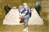 Jessica Simpson & Tony Romo optische illusie kostuum