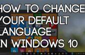 Het wijzigen van uw standaardtaal In Windows 10