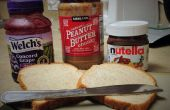 De Enhanced pindakaas en gelei Sandwich