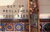 DIY teruggewonnen hout teken Vintage (Up geïnspireerd)
