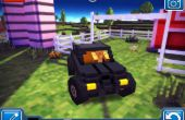 Hoekig wegen Batmobile (Minecrafty Driving spel)