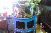 55 gallon food grade vat Aquaponic systeem met tank venster