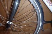 DIY oogje voor fiets vorken