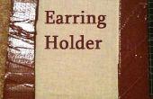 Earring houder (gemaakt van karton)