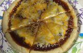 5 minute BBQ-Pizza