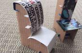 Miniatuur kartonnen stoelen voor een poppenhuis