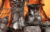 Halloween spin Web vazen