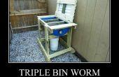 Drievoudige Bin Worm fietsbox - Wormenbak