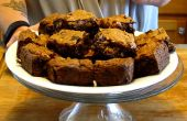 Chocolade noten Blondies stuk