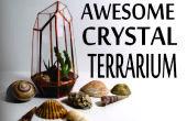 Geometrische Crystal Terrarium uit CD doosjes