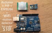 $10 Arduino WiFi bewegingsmelder (PIR) die naar SQL via goedkope ESP8266 module schrijft