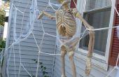 Reuze Spiderweb huis decoratie voor Halloween!