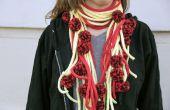Spaghetti en gehaktbal gebreide sjaal