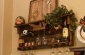Pallet houten wijnrek en Liquor plank