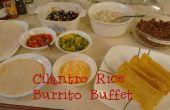 Koriander rijst Burrito Buffet: DIY Chipotle