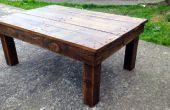 Maken van een koffietafel van geregenereerde Pallet hout