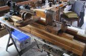 Zelfgemaakte houtbewerking draaibank