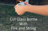 Snijden van de fles met vuur en String