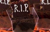 Gemakkelijk rip Dessert schoten voor Halloween