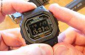 Hoe een gewone G-Shock DW-5600 omzetten naar een negatieve weergave