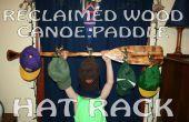 Teruggewonnen hout kano peddel Hat Rack