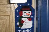 Sneeuwpop deur Hanger