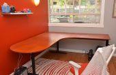 Herstel van een oude bureau met een nieuwe laminaat oppervlak