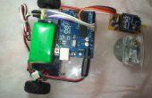Robo-auto met behulp van 360 ° servomotor draadloze