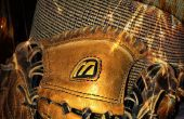 A honkbal handschoen relace