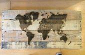 Extra Pallet hout Laser gegraveerd kaart