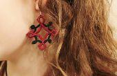 DIY naald oorbellen Tatted